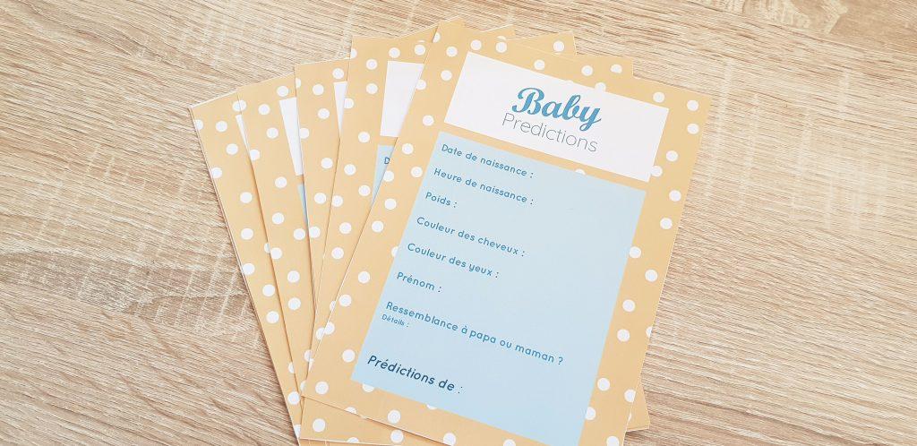 Idées jeux baby shower