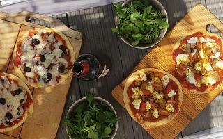 Pizza Tortillas : recettes saines match de foot