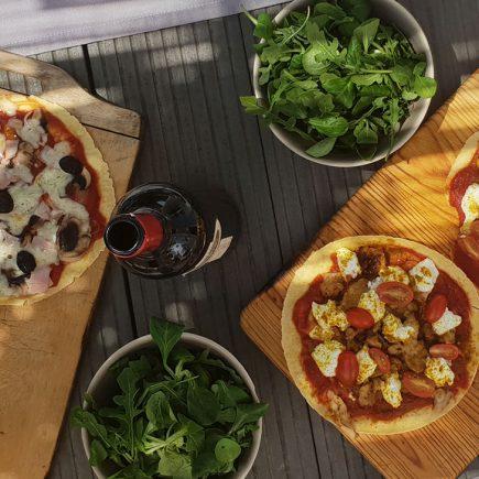 Pizza Tortillas : recettes saines match de foot