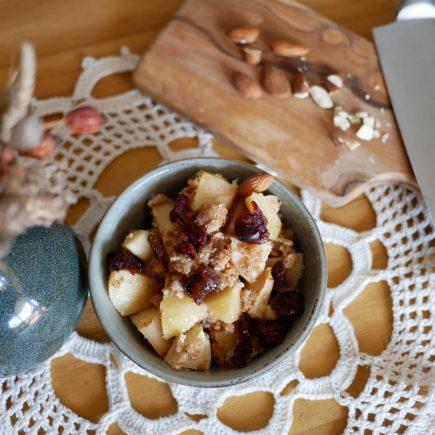 Crumble aux pommes healthy